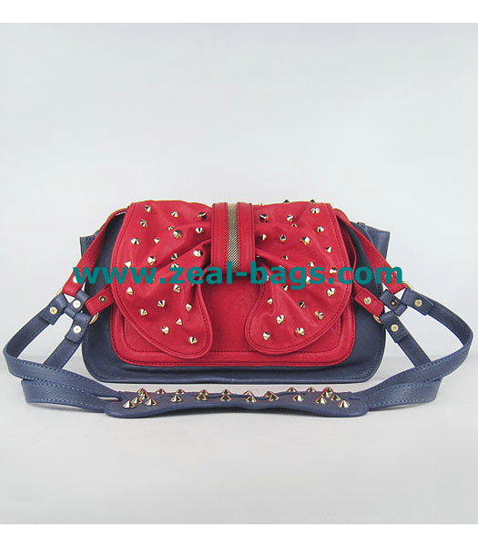 Cheap 3.1 Phillip Lim Edie Bow Studded Bag Blue/Red Replica