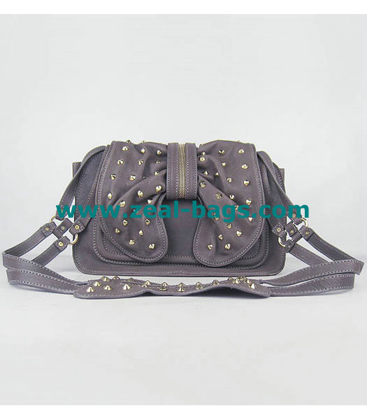 Cheap 3.1 Phillip Lim Edie Bow Studded Bag Grey Replica