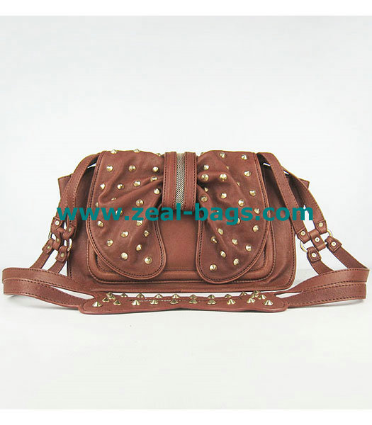 Cheap 3.1 Phillip Lim Edie Bow Studded Bag Light Coffee Replica