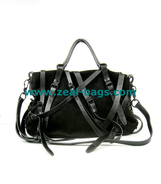 AAA Replica Alexander Wang Black Calfskin Leather Shoulder Tote Bag