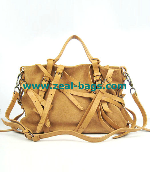 AAA Replica Alexander Wang Camel Calfskin Leather Shoulder Tote Bag