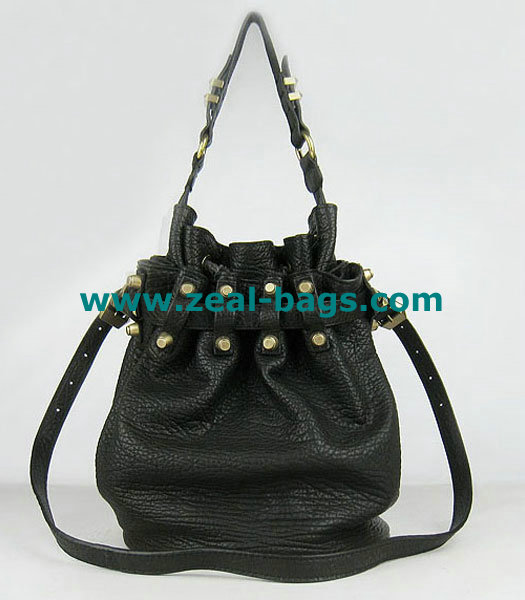 AAA Replica Alexander Wang Diego Studded Bag Black Lambskin with Golden Metal