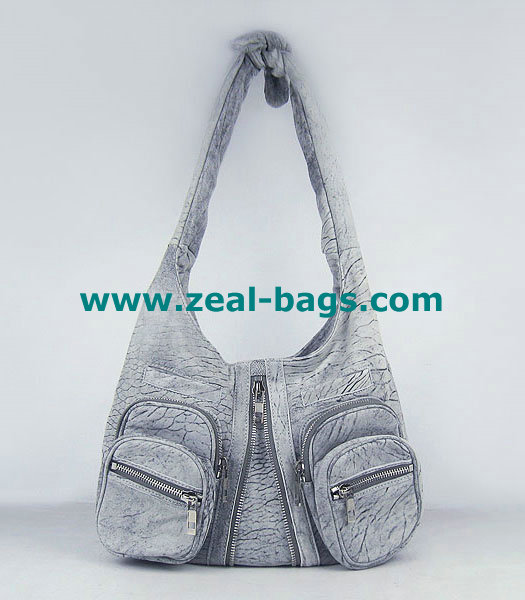AAA Replica Alexander Wang Donna Hobo Should Bag Grey Lambskin