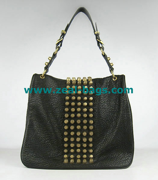 AAA Replica Alexander Wang Flap Studded Bag Black Lambskin