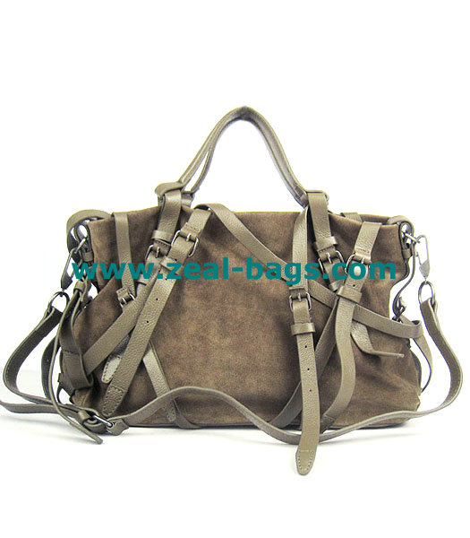 AAA Replica Alexander Wang khaki Calfskin Leather Shoulder Tote Bag