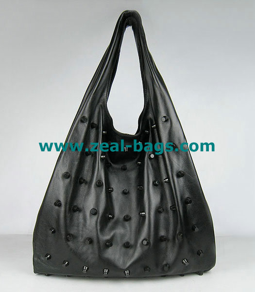 AAA Replica Alexander Wang Large Studded GM Bag Black Lambskin