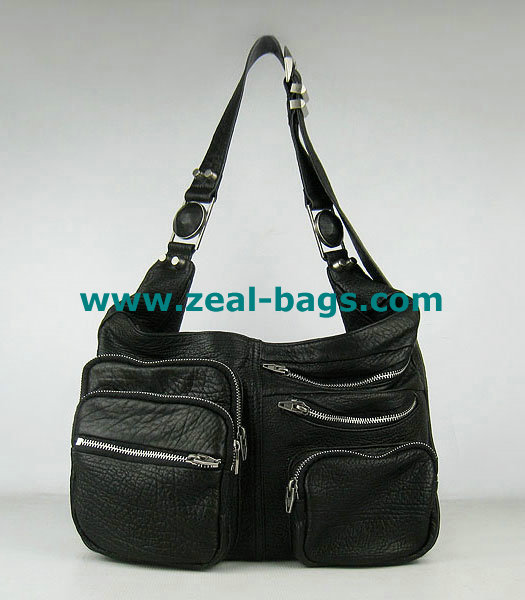 AAA Replica Alexander Wang Max Fanny Pack Bag Black Lambskin