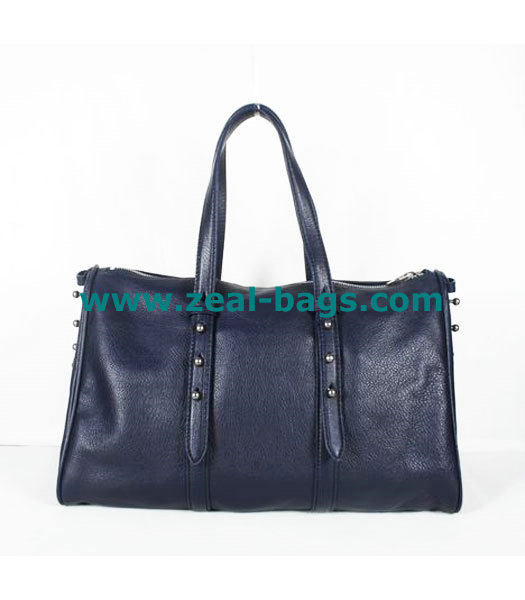 AAA Replica Alexander Wang Sapphire Blue Leather Shoulder Bag