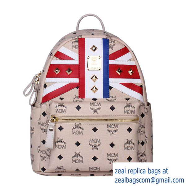 High Quality Replica Hot Sale MCM Small Flag of UK Backpack MC5173S Beige