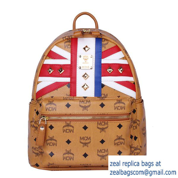 High Quality Replica Hot Sale MCM Small Flag of UK Backpack MC5173S Wheat