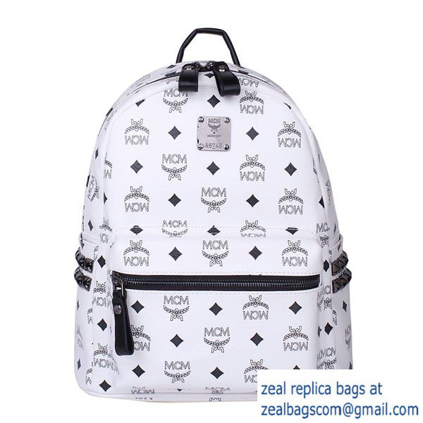 High Quality Replica Hot Sale MCM Small Stark Backpack MC2446S White