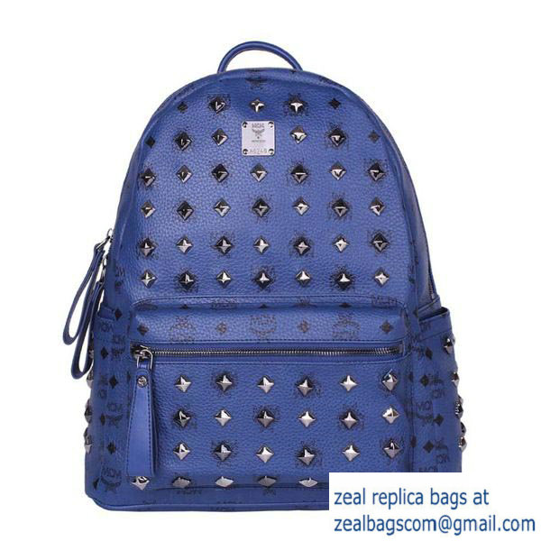 High Quality Replica Hot Sale MCM Stark Studded Medium Backpack MC2089 Royal