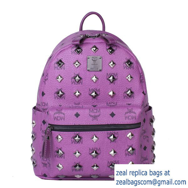 High Quality Replica Hot Sale MCM Stark Studded Small Backpack MC2089S Purple