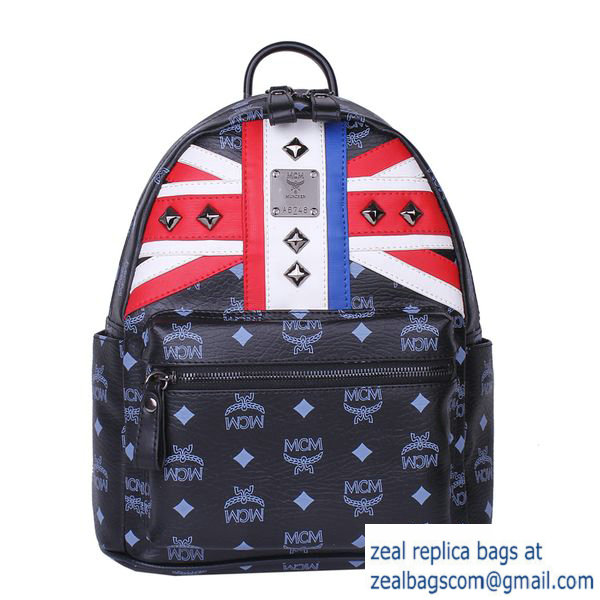 High Quality Replica MCM Small Flag of UK Backpack MC5173S Black
