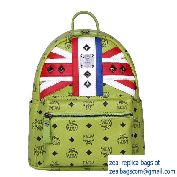 High Quality Replica MCM Small Flag of UK Backpack MC5173S Green
