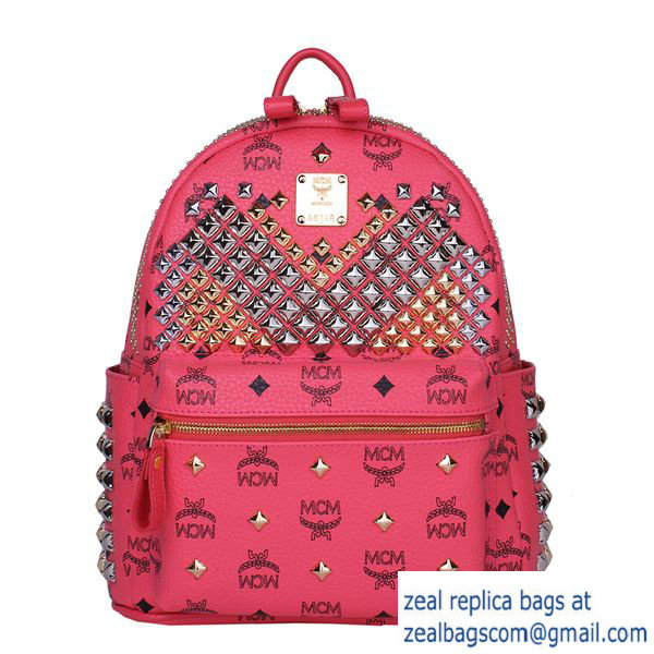High Quality Replica MCM Small Stark Front Studs Backpack MC4237S Red