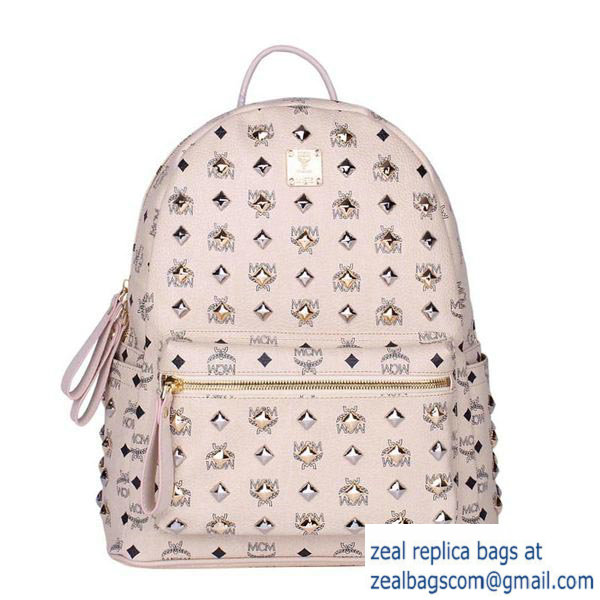High Quality Replica MCM Stark Studded Medium Backpack MC2089 OffWhite