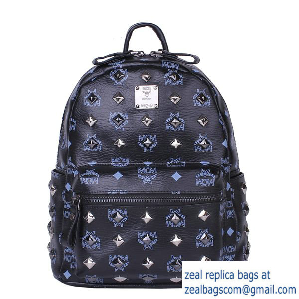 High Quality Replica MCM Stark Studded Small Backpack MC2089S Black