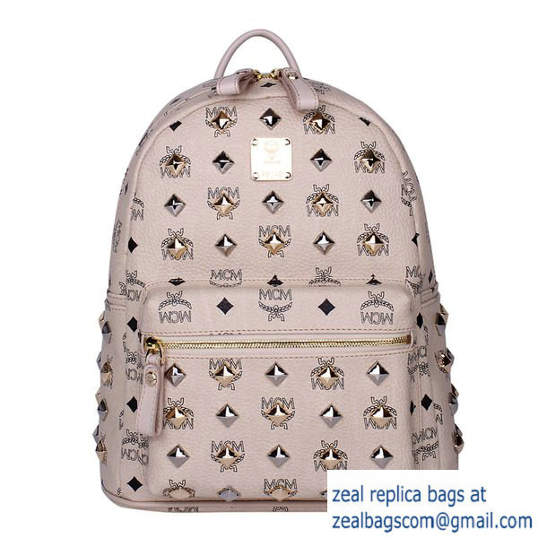 High Quality Replica MCM Stark Studded Small Backpack MC2089S OffWhite