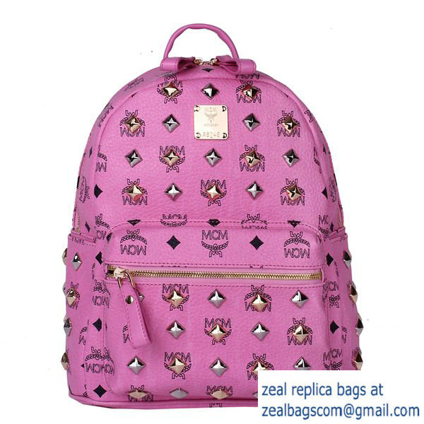 High Quality Replica MCM Stark Studded Small Backpack MC2089S Rosy