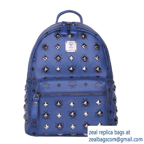 High Quality Replica MCM Stark Studded Small Backpack MC2089S Royal