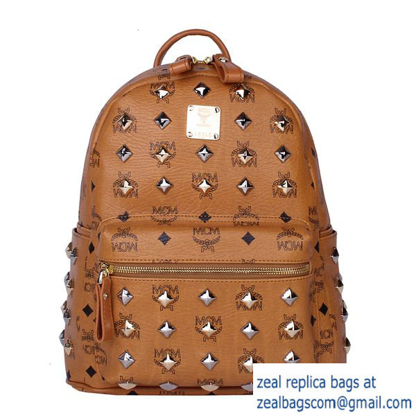 High Quality Replica MCM Stark Studded Small Backpack MC2089S Wheat