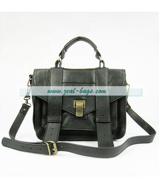 Knockoff Proenza Schouler Lambskin Leather Satchel Small Bag in Black