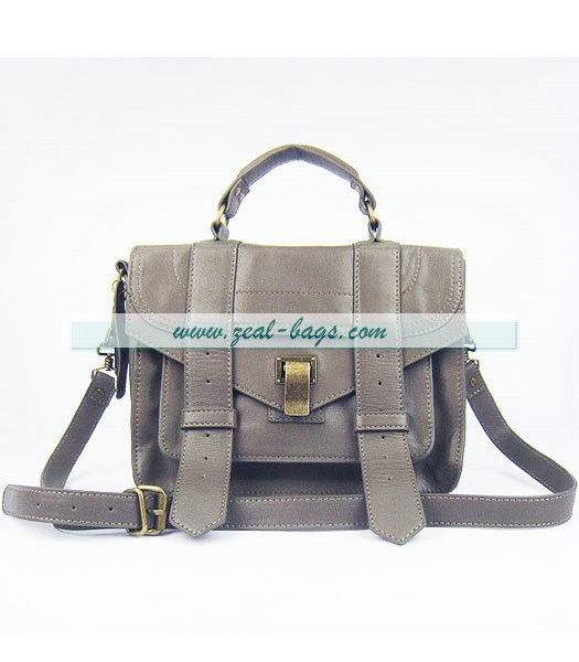 Knockoff Proenza Schouler Lambskin Leather Satchel Small Bag in Grey