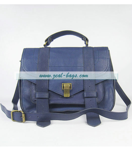 Knockoff Proenza Schouler Suede PS1 Satchel Bag in Blue Lambskin