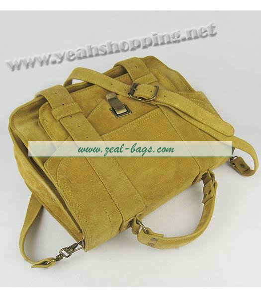 Knockoff Proenza Schouler Suede PS1 Satchel Bag in Yellow Cow Suede Leather