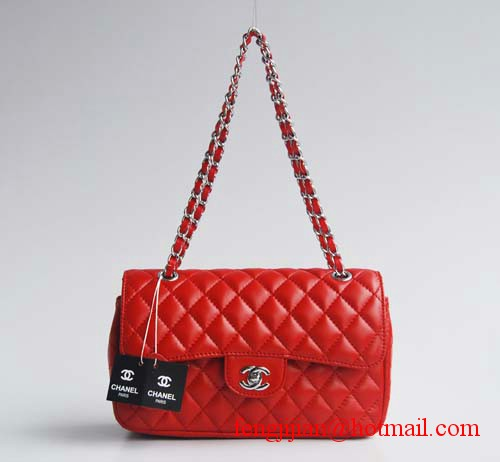 7A Fake Chanel 2.55 Quilted Flap Bags 1112 Red