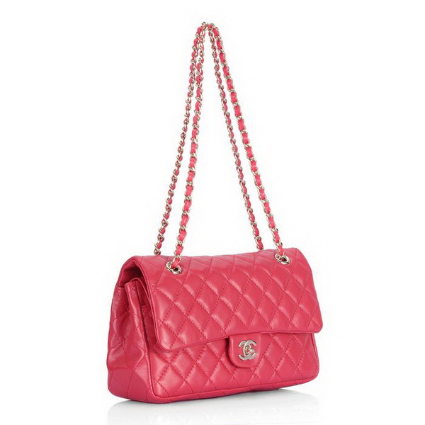Cheap Replica Chanel Classic 2.55 Series Flap Bag 1112 Red Leather Golden Hardware