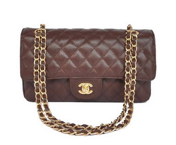 Replica Chanel 2.55 Double Flap Bag Brown with Gold Hardware Outlet