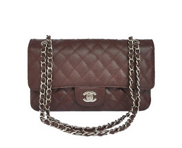Replica Chanel 2.55 Double Flap Bag Brown with Silver Hardware Outlet