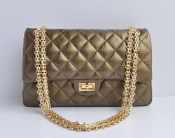 High Quality Knockoff Chanel 2.55 Series Falp Bag Bronze with Gold Chain 30226