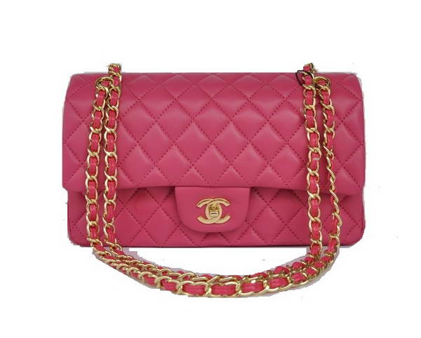 High Quality Knockoff Chanel 2.55 Series Flap Bag 1112 Rose Sheepskin Leather