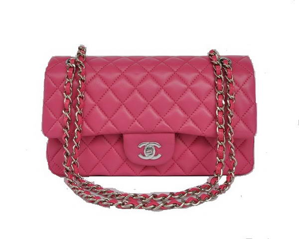 High Quality Knockoff Chanel 2.55 Series Flap Bag 1112 Rose Sheepskin Leather Silver Hardware