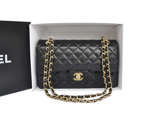 High Quality Knockoff Chanel A1112 2.55 Series Flap Bag Original Leather Black Gold Hardware