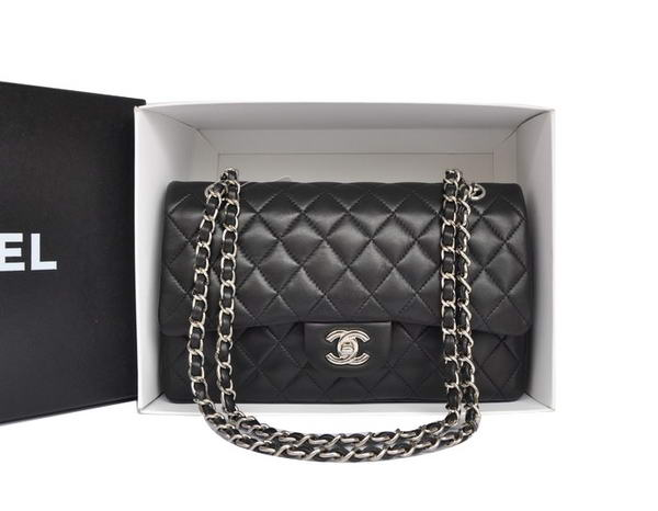High Quality Knockoff Chanel A1112 2.55 Series Flap Bag Original Leather Black