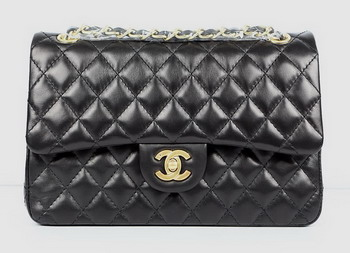 7A Fake Chanel 2.55 Quilted Lambskin Flap Bag A1112 Black
