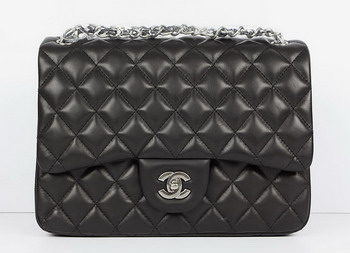 Cheap Replica Chanel Jumbo Quilted Flap Bag A58600 Black with Silver Hardware