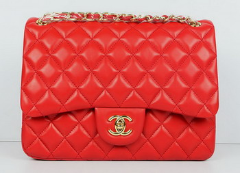 Cheap Replica Chanel Jumbo Quilted Flap Bag A58600 Red