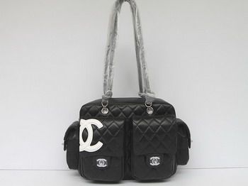 7A Discount Chanel Cambon Multipocket Bag 25173 Black