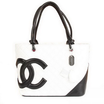 7A Discount Chanel Cambon Black CC A25169 White Shoulder Bags