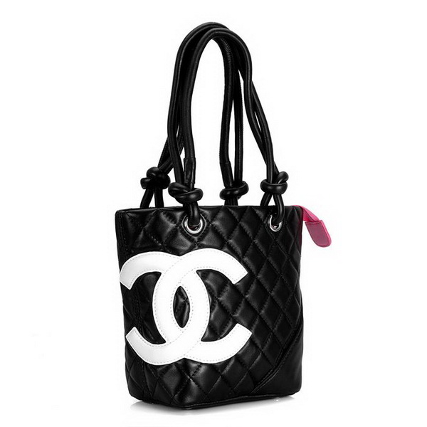 7A Discount Chanel Cambon Small Shoulder Bags 25166 Black-White