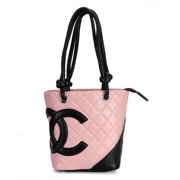 7A Discount Chanel Cambon Small Shoulder Bags 25166 Pink-Black