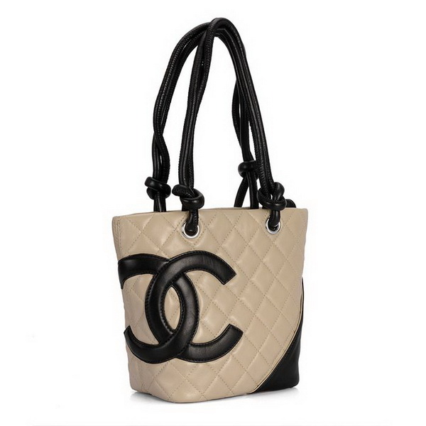 7A Discount Chanel Cambon Middle Shoulder Bags 25167 Apricot-Black