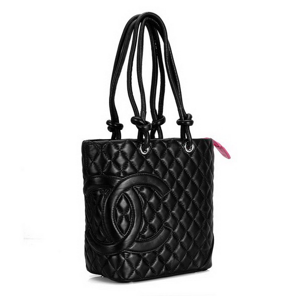 7A Discount Chanel Cambon Middle Shoulder Bags 25167 Black