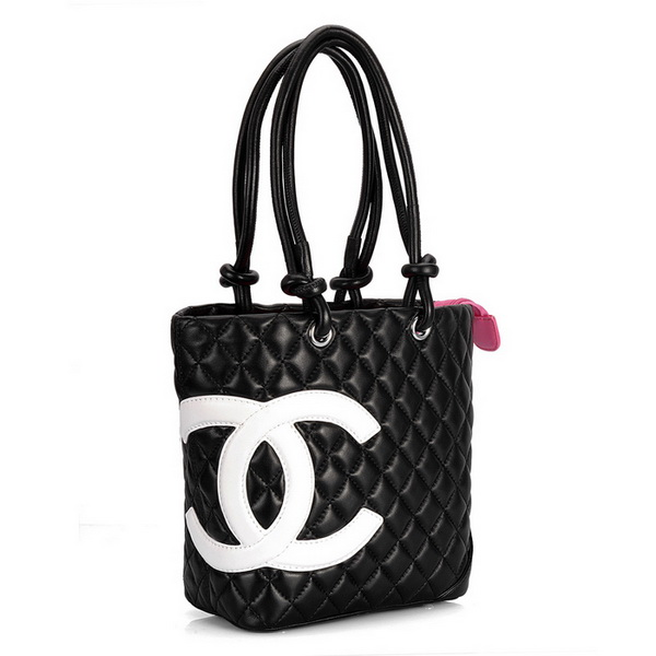 7A Discount Chanel Cambon Middle Shoulder Bags 25167 Black-White