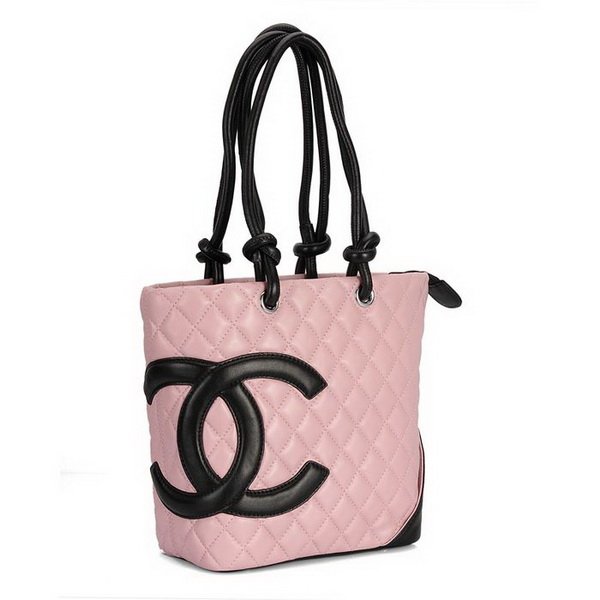 7A Discount Chanel Cambon Middle Shoulder Bags 25167 Pink-Black